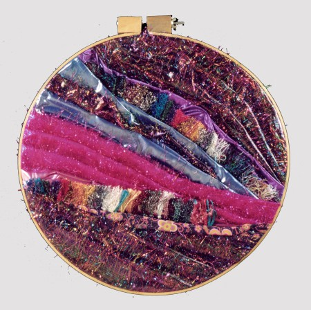yarn, fabric, embroidery hoop
