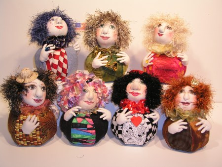 soft sculpted pin cushion dolls