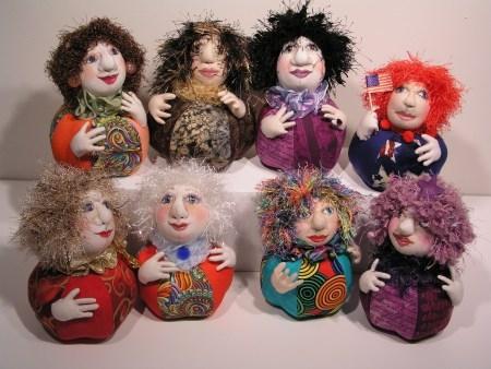 soft sculpted pin cushion dolls