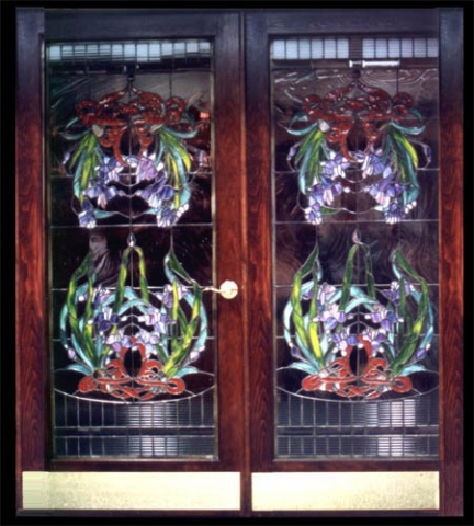 Custom stained glass entry