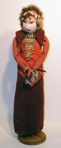 soft sculpted & wrapped doll