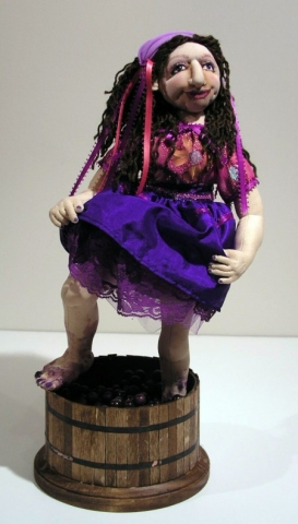 soft sculpted doll based on pattern